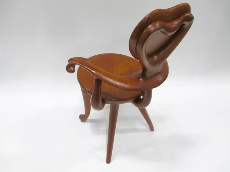 Spanish Calvet Armchair by Antoni Gaudi For Sale