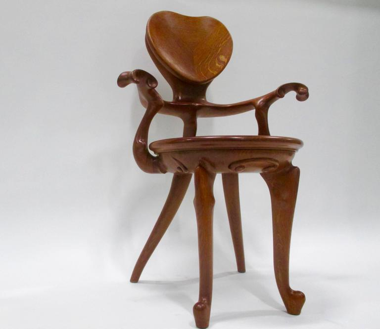 20th Century Calvet Armchair by Antoni Gaudi For Sale