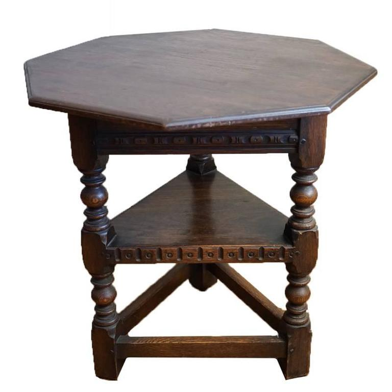 19th Century Jacobean Occasional Table For Sale