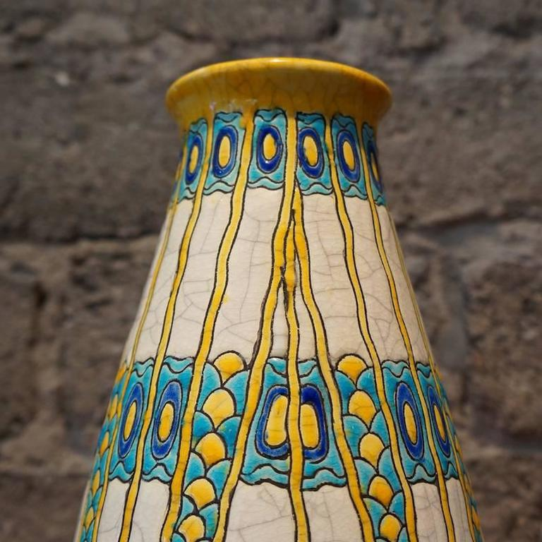 Charles Catteau Three Color Patterned Vase 3