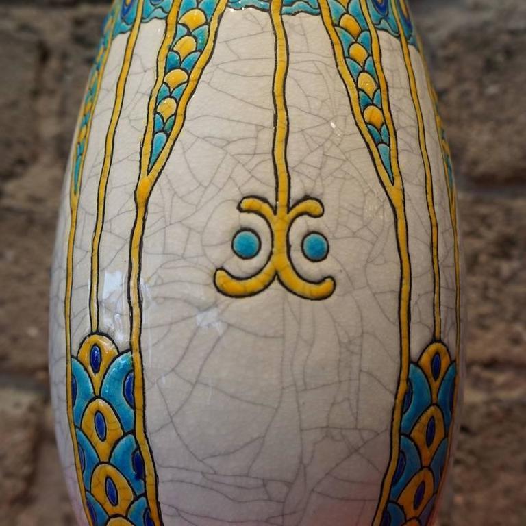 Charles Catteau Three Color Patterned Vase 4