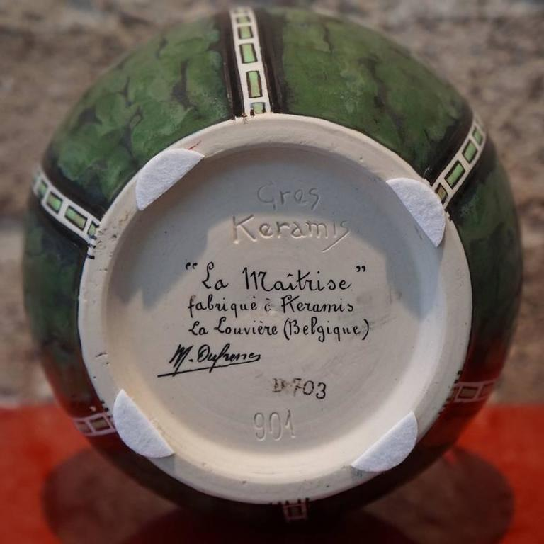 M. Dufrene D.703 Early Rare Vase. Director Charles Catteau 7