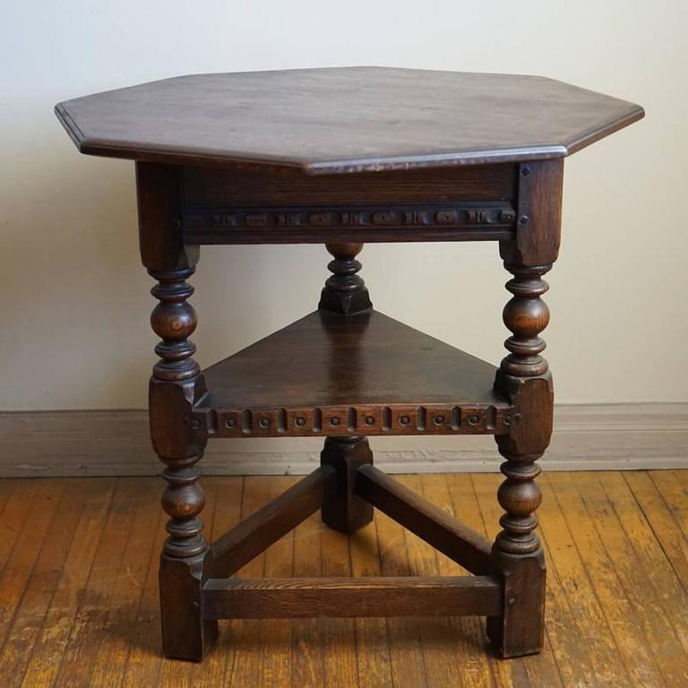 English 19th Century Jacobean Occasional Table For Sale
