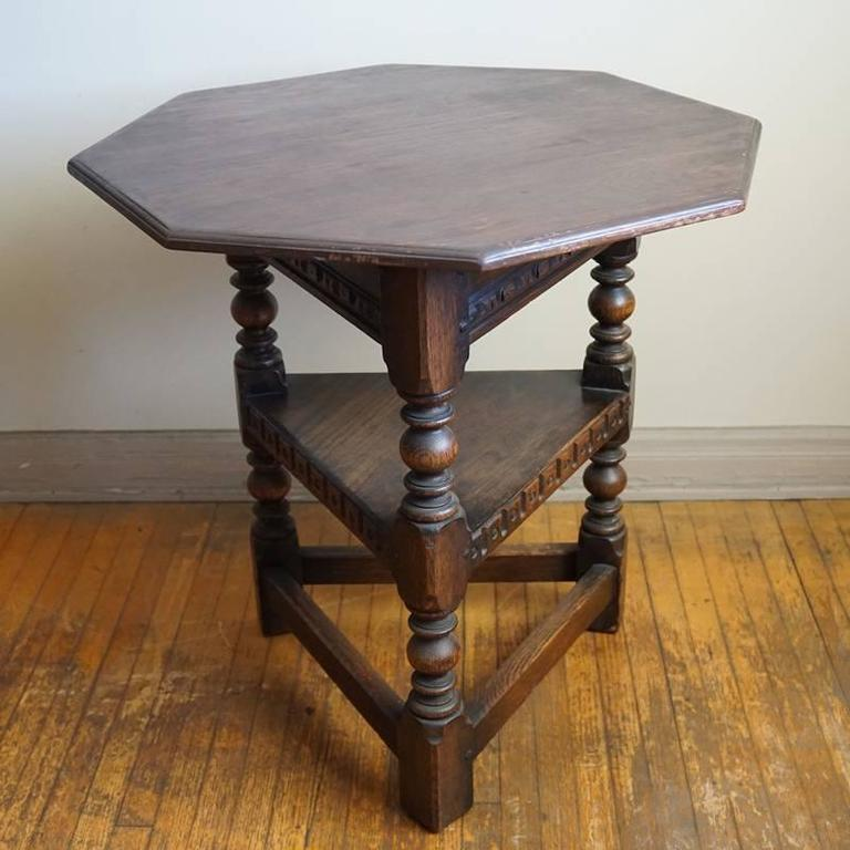 Carved 19th Century Jacobean Occasional Table For Sale
