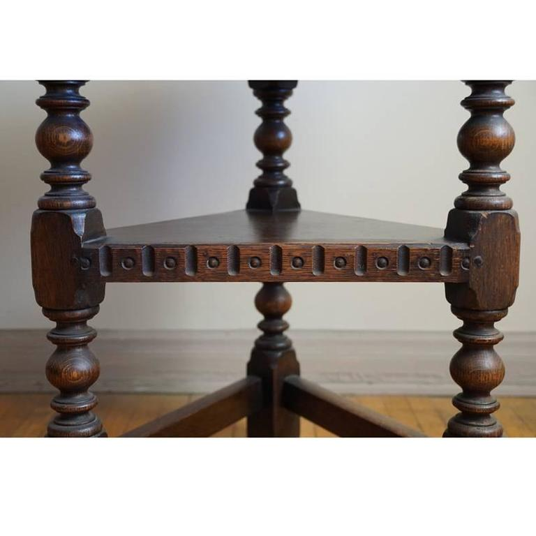 Oak 19th Century Jacobean Occasional Table For Sale