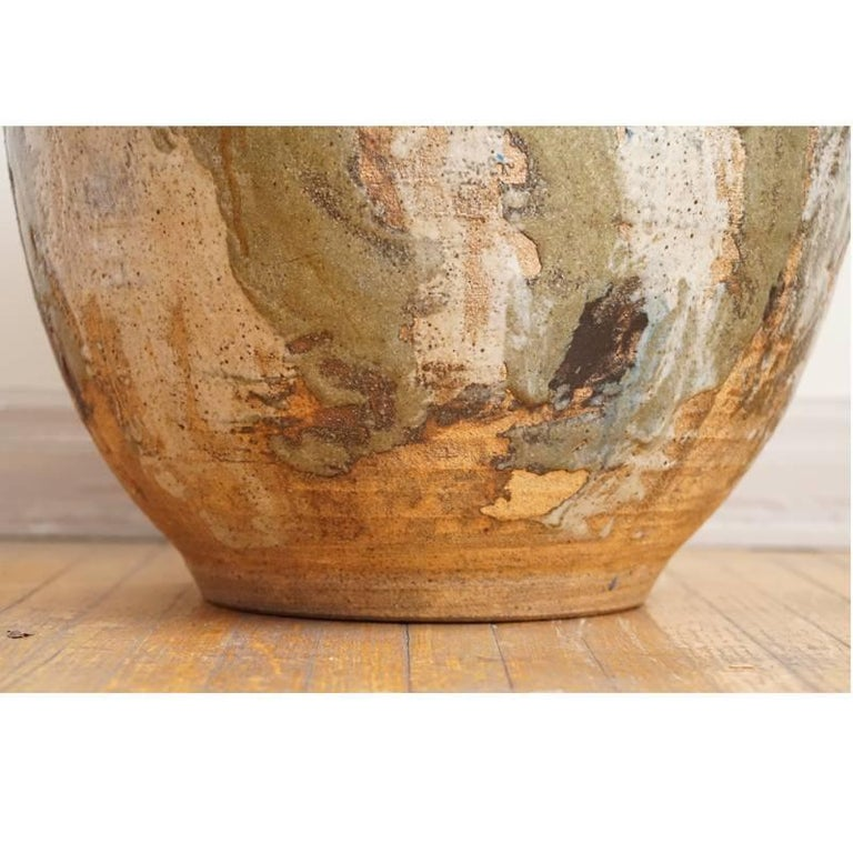 Arts and Crafts Italian Organic Glazed Planter For Sale