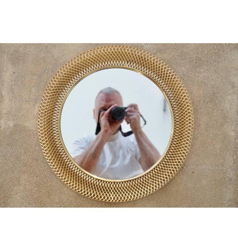 Austrian Metal Basket Mirror 2