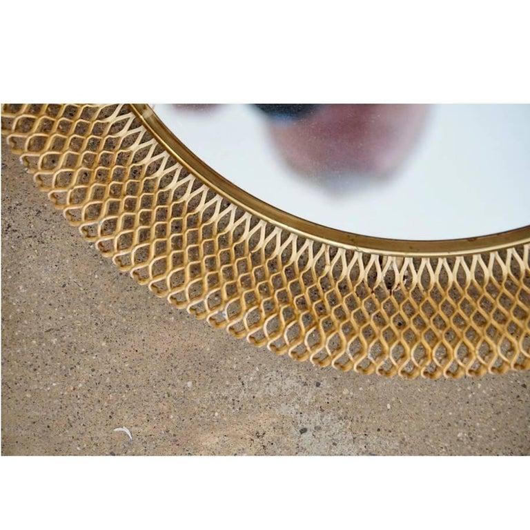 Austrian Metal Basket Mirror 3