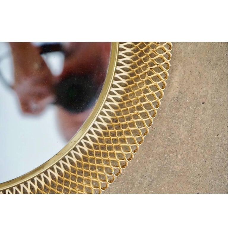Austrian Metal Basket Mirror 4