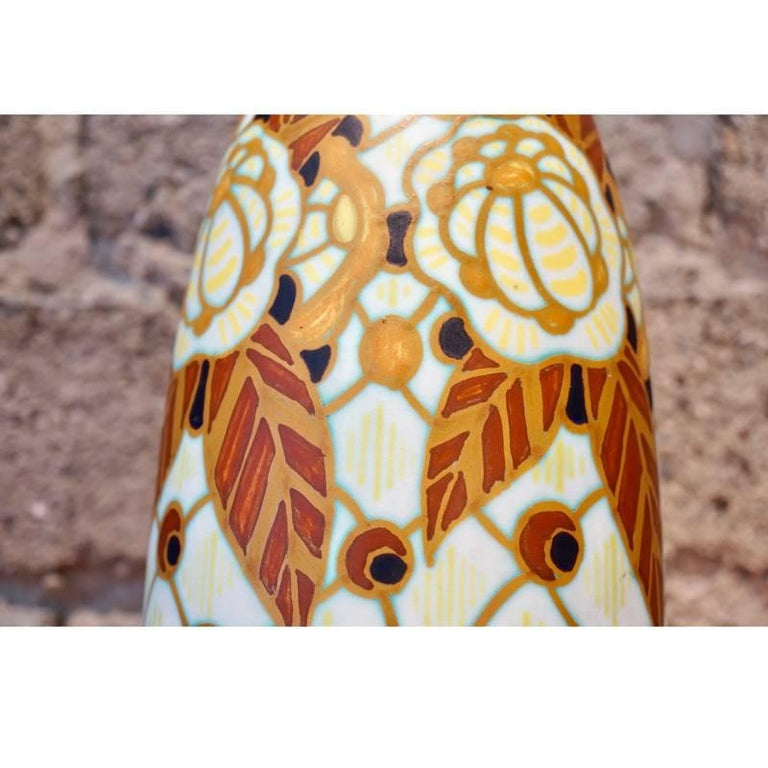 Charles Catteau Vase D.963 In Excellent Condition For Sale In Los Angeles, CA