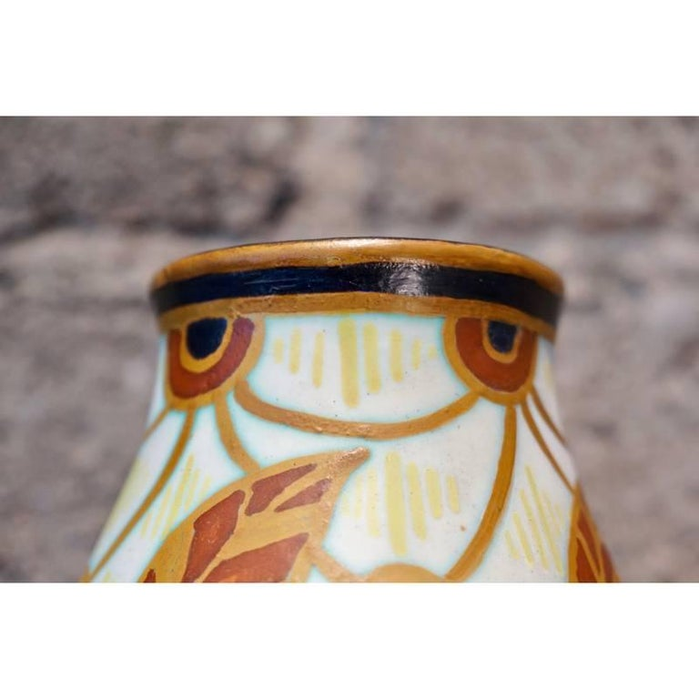 20th Century Charles Catteau Vase D.963 For Sale