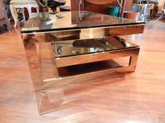 1970s G Design Coffee Table with Smoked Glass