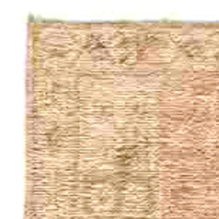 Hand-Knotted Samarkand Vintage Rug For Sale