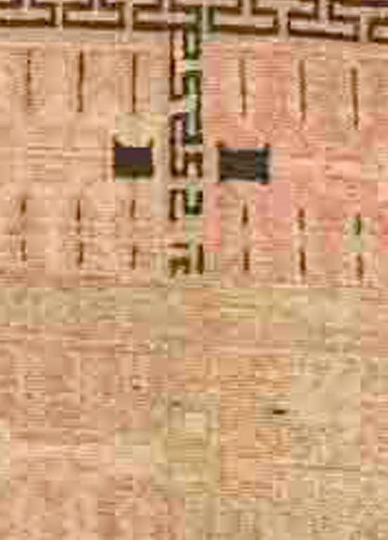 Samarkand vintage rug. Size: 9'8'' × 5'2'', circa 1930.