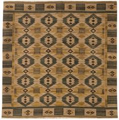 Swedish Tapestry Weave Rug by Marta-Mass Fjetterström 'Gront Pa linne'