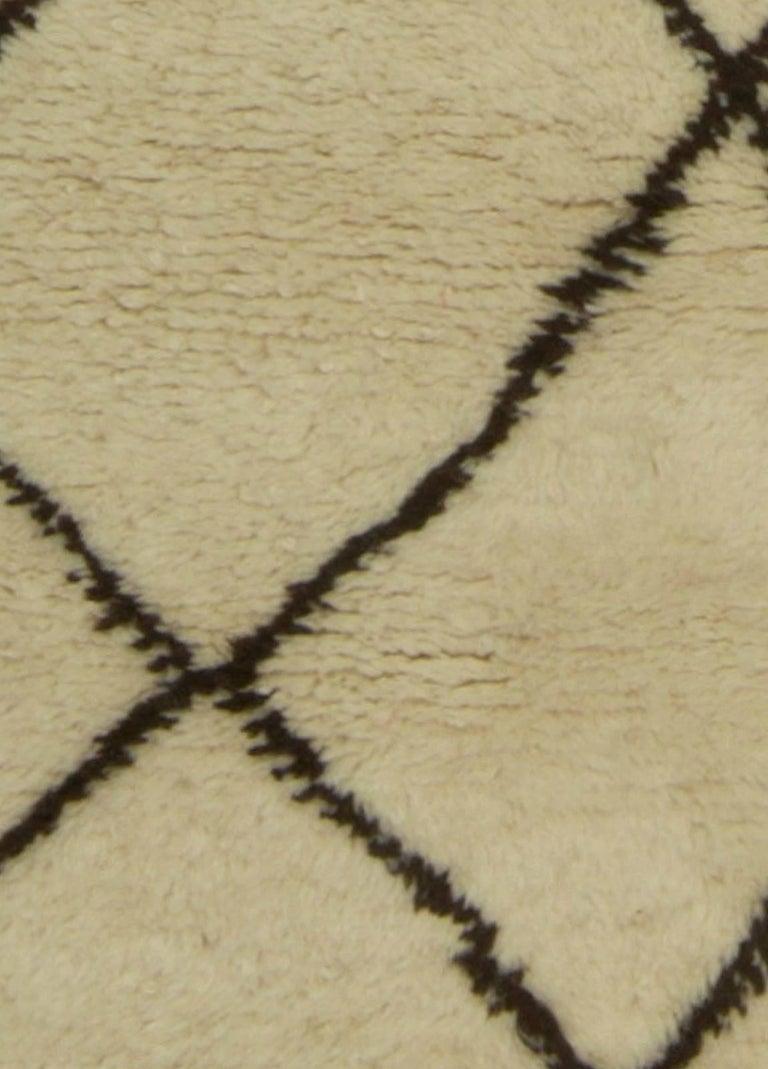 A modern Moroccan rug.