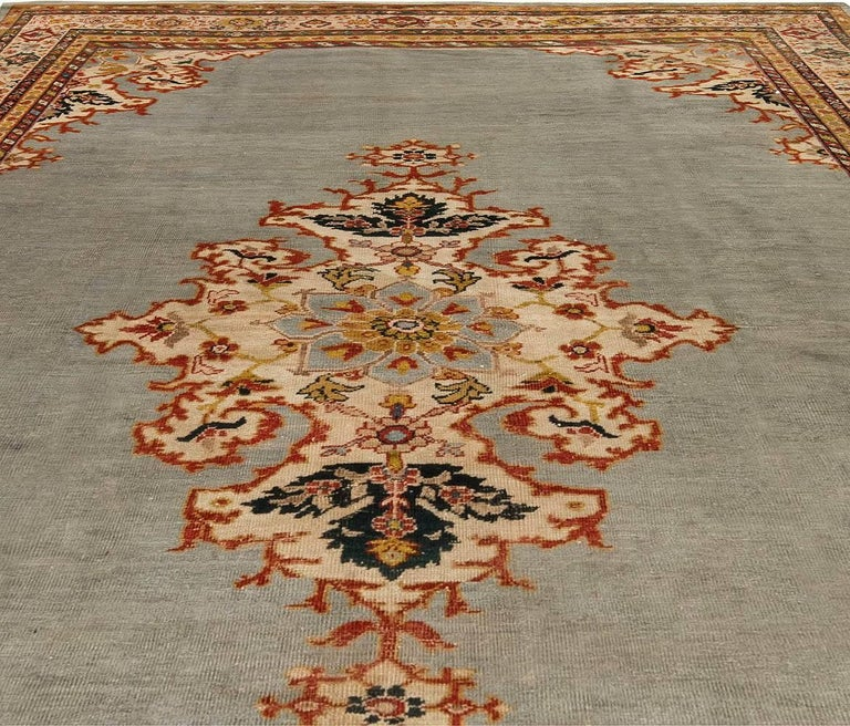 Wool Antique Persian Sultanabad Rug For Sale