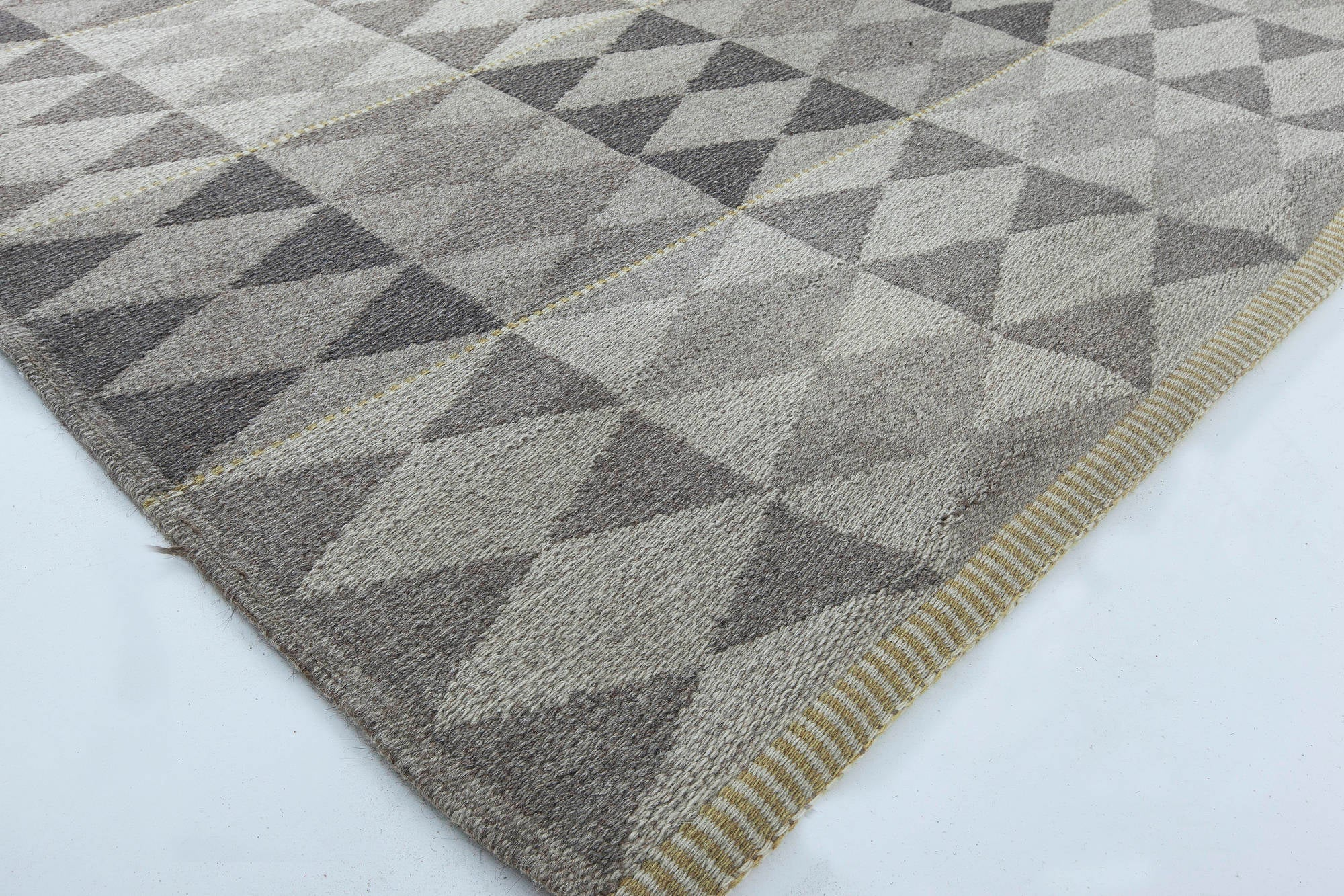 Swedish flat weave double sided rug for sale at 1stdibs