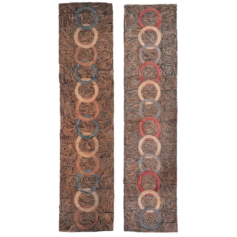 Pair of American Hooked Rugs