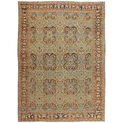 Green Antique Persian Bakhtiari Carpet