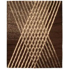 Brown Modern Moroccan Rug
