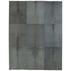 Grey Hair-on-Hide Contemporary Rug