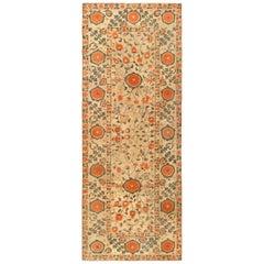 Orange Vintage Samarkand 'Khotan' Carpet