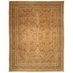 Camel Antique Persian Tabriz Rug