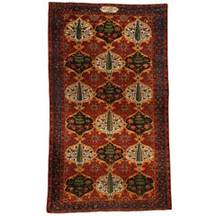 Red Antique Persian Bakhtiari Carpet