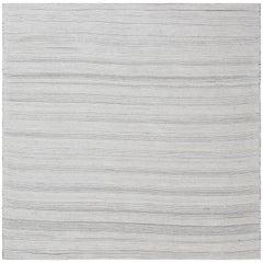 Grey Bauer Collection Minimalist White Rug II
