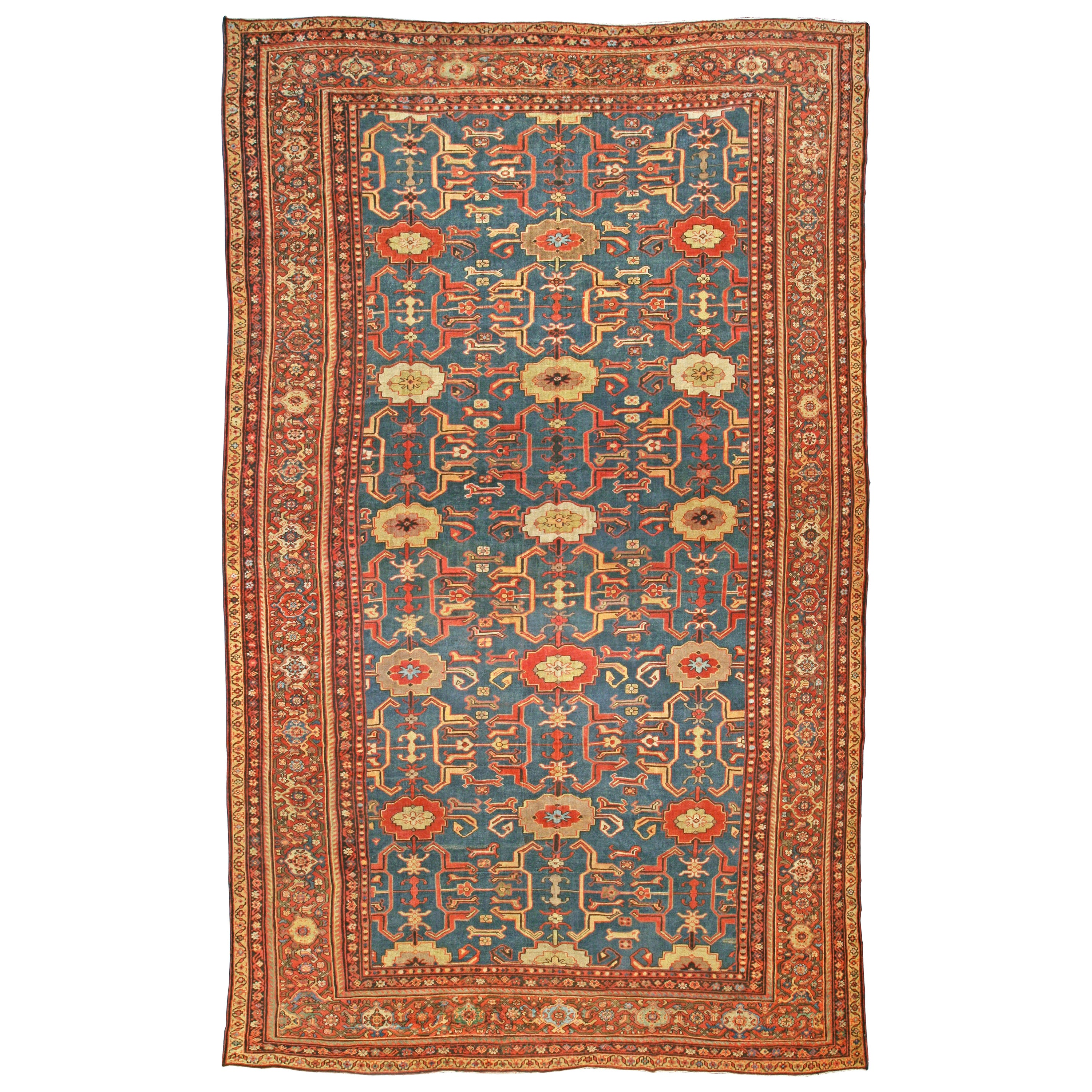 Blue Antique Persian Sultanabad Rug