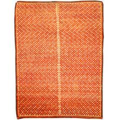 Orange Vintage Moroccan Rug