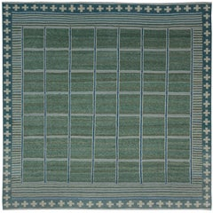 Green Swedish Designed Rug