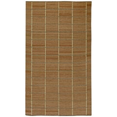 Brown Swedish Flat-Weave Rug