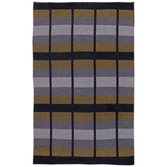 Vintage Swedish Flat-Weave Reversible Rug