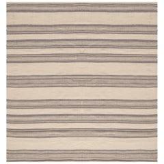 Beige Modern Flat-Weave Rug