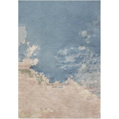 Blue Sky Contemporary Silk Rug