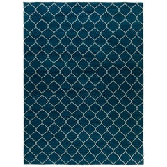 Navy Contemporary Capri Blue Rug