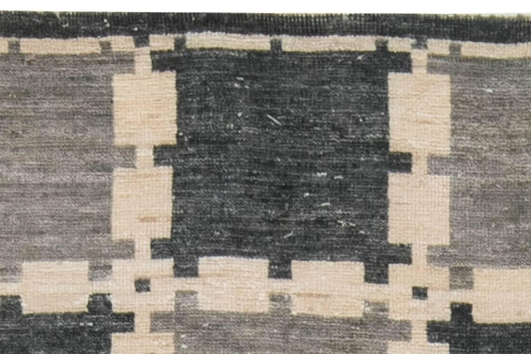 Indian Gray Swedish Pile Rug For Sale