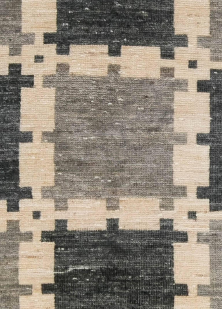 Gray Swedish pile rug Size: 4'9