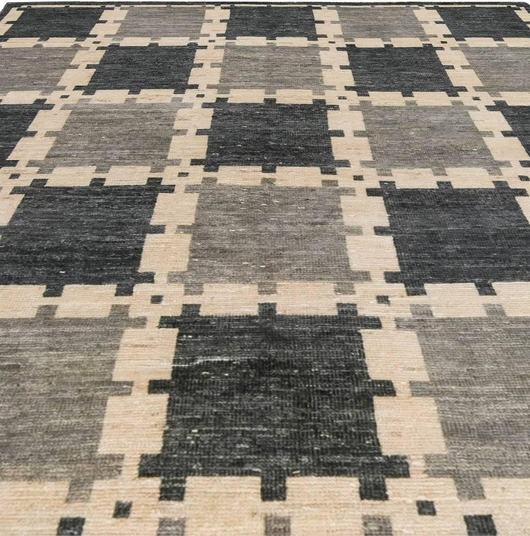 Contemporary Gray Swedish Pile Rug For Sale