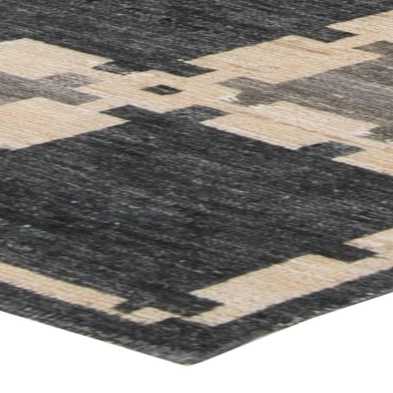 Wool Gray Swedish Pile Rug For Sale
