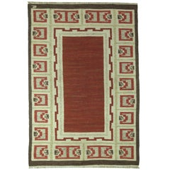 Brown Vintage Swedish Rug