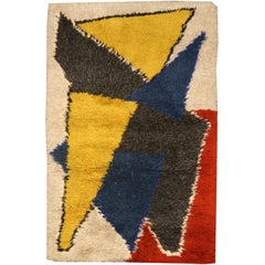 Yellow Vintage Scandinavian Rug
