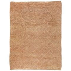 Beige Contemporary Moroccan Rug