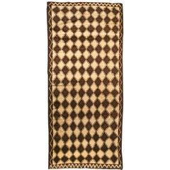 Brown Vintage Moroccan Rug
