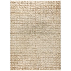 Beige Modern Carpet Rug