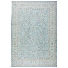 Blue Tarbriz Design Rug