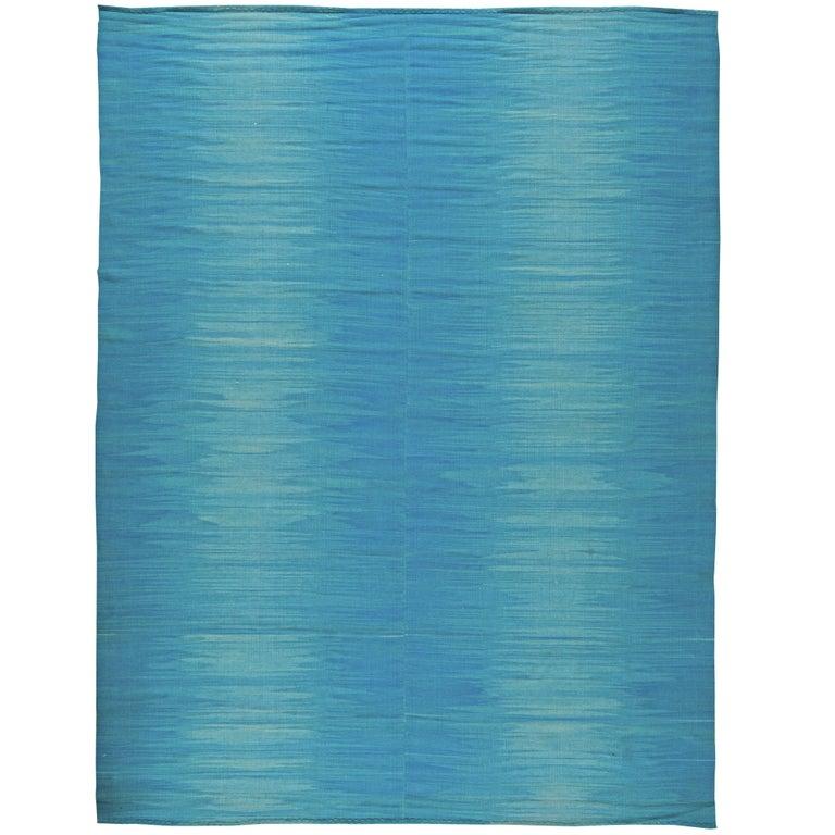 Blue Contemporary Kilim Rug