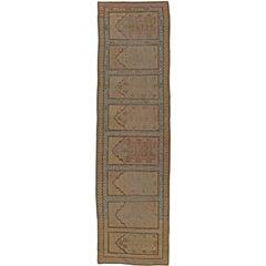 Beige Antique Samarkand Runner
